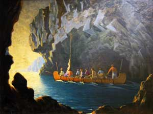Canadian Pioneers  painted 1931 by Arthur Heming